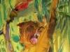 Affe mit fackel 200x100cm