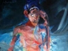 Frau mit Einsiedlerkrebs 200x100-cm