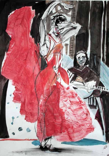 Flamenco 7   100x70-cm