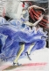 Flamenca blau - A4 - Buntstift