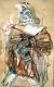 Herakles als Mime - 100x70cm - Mischtechnik