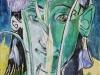 Faun mit Iris  60x40-cm
