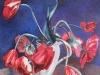 Tulpen vor Blau  70x70 cm