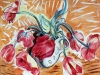 Tulpen vor Orange  40x60-cm