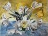 weisse Tulpen  50x70cm Pastell
