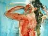 Herakles bei der Morgentoilette  100x70-cm