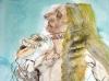 Herakles kaemmt sein blondes Haar  100x70cm