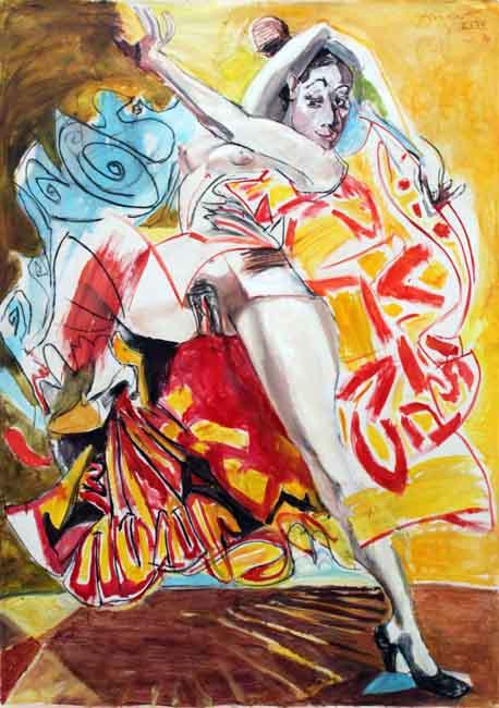 flamenca-vor-gelb-210x150-cm